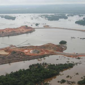 The construction of the Belo Monte Dam