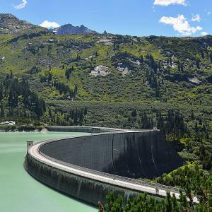 Dam in the Kaunertal Valley, Austria.