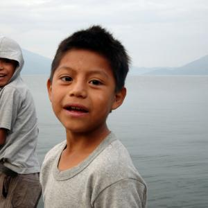 Kids on Lake Atitlán, Guatemala