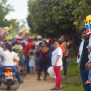 Marcha Carnaval contra el fracking en San Martin, Cesar, Colombia.