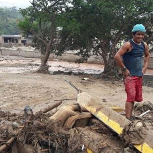 Deslizamiento en Mocoa, Colombia.