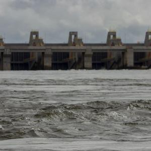 La casa de fuerza de la represa hidroeléctrica Belo Monte