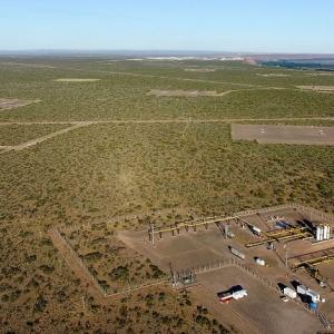 El área más desarrollada del proyecto de fracking Vaca Muerta