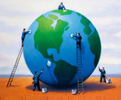 Ilustración sobre la Cumbre de la Tierra: Fuente: Revista Seguridad y Medio Ambiente.