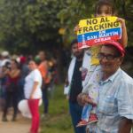 Protest against fracking