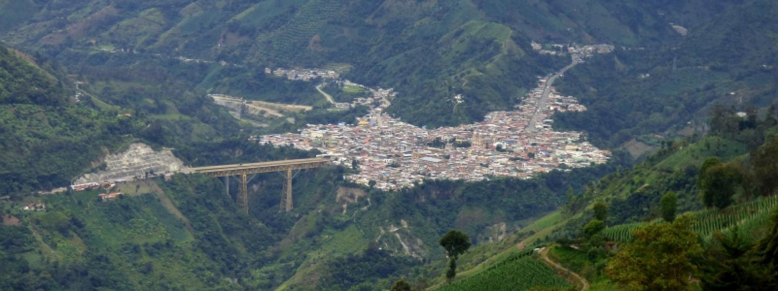 The small town of Cajamarca, Colombia