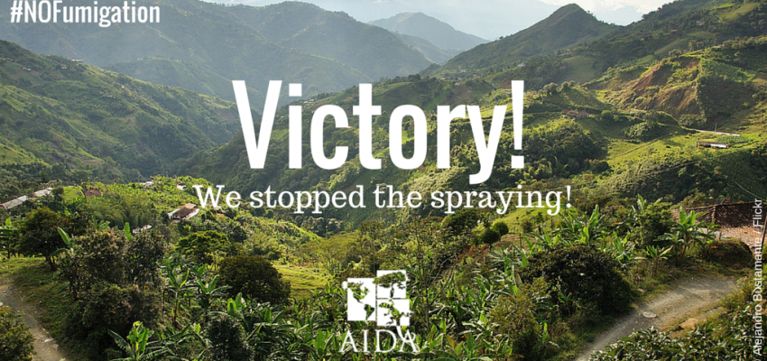 AIDA celebrates historic decision to suspend fumigation with glyphosate in Colombia
