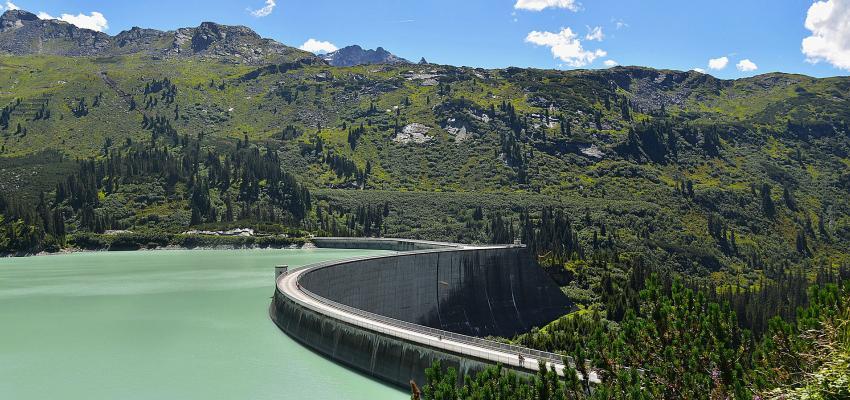 Dam in the Kaunertal Valley, Austria.