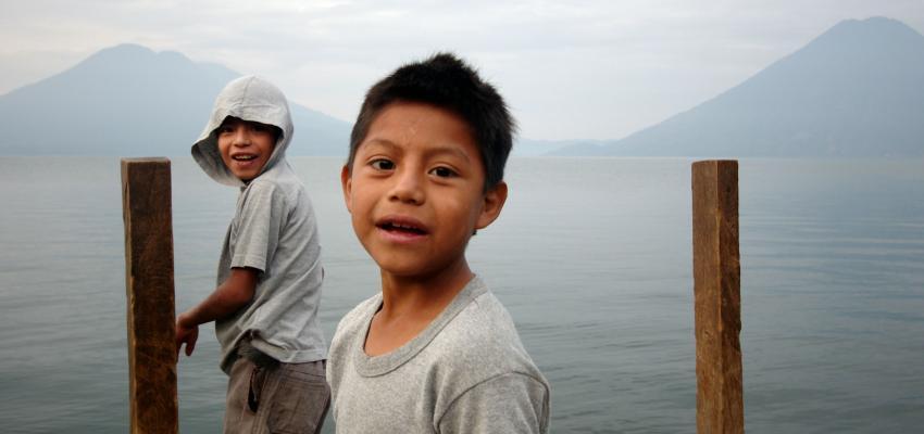 Kids on Lake Atitlán, Guatemala