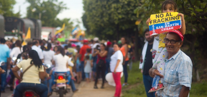 March against fracking in San Martín, Colombia