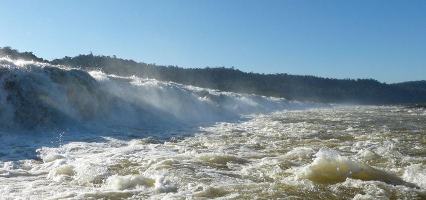 The Moconá Falls in Argentina.