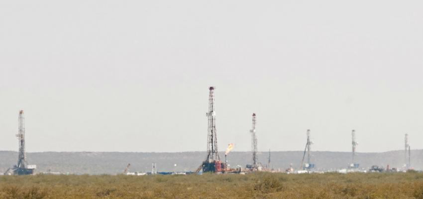 Fracking wells in the province of Neuquén, Argentina.