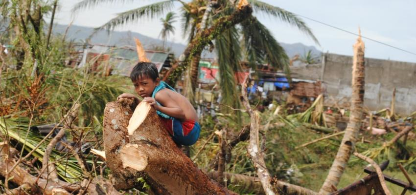 One of the survivors of Typhoon Haiyan